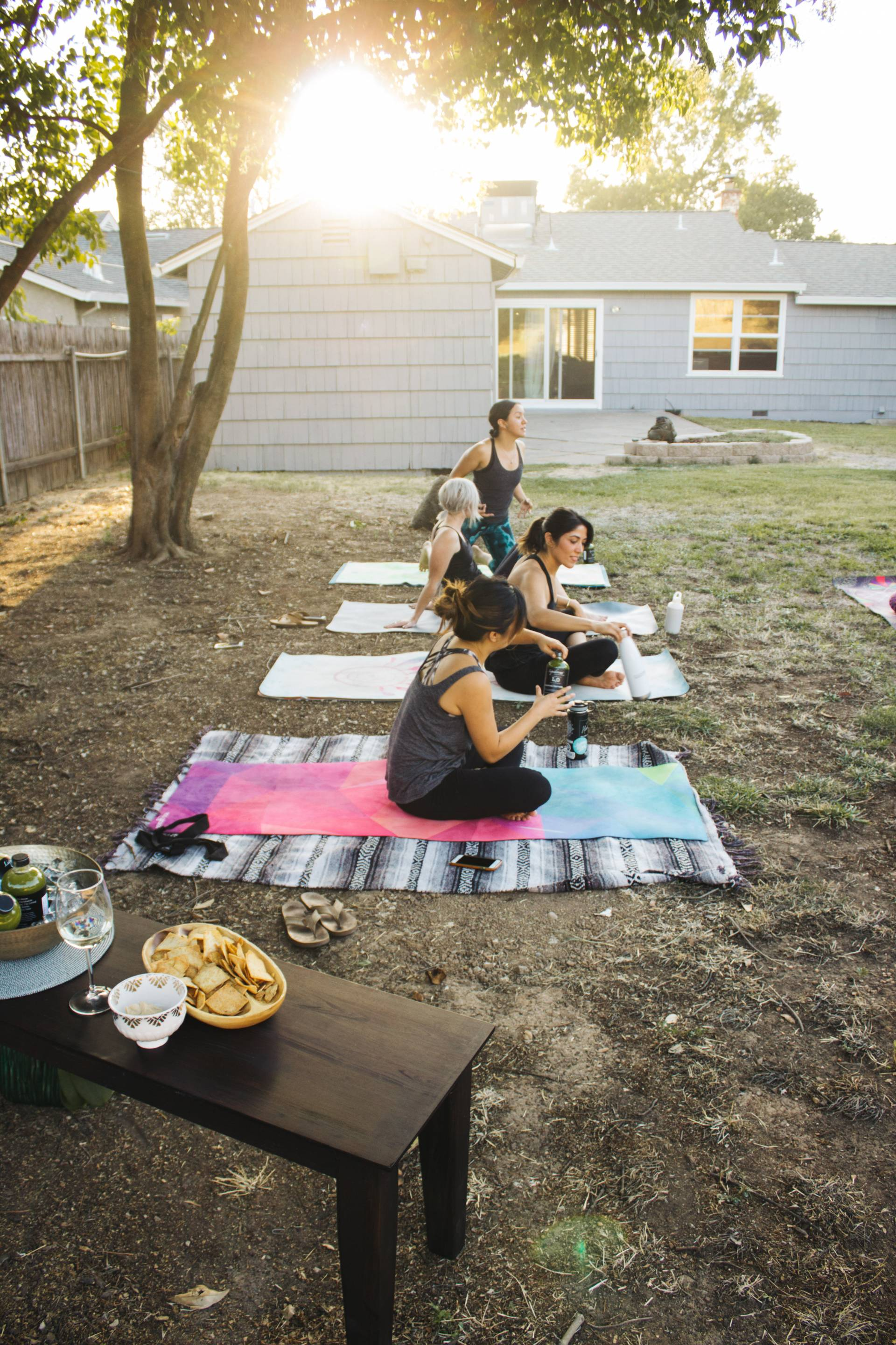Backyard Yoga Party with Liquidology