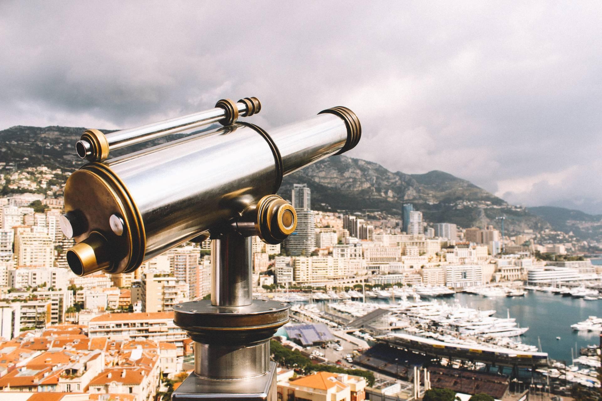 Telescope in Monte-Carlo, Monaco
