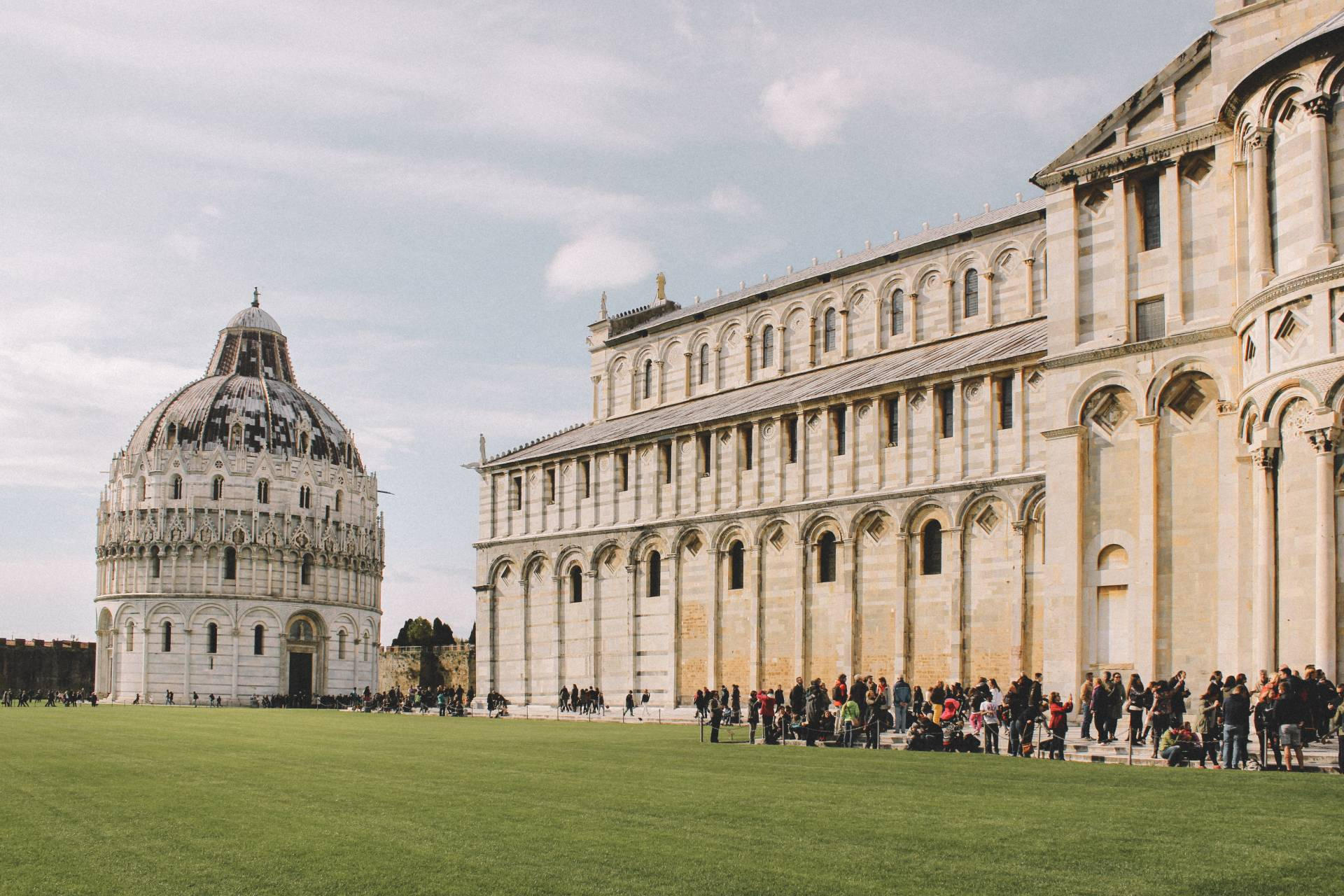 Baptistery and Cathedral in Pisa, Italy