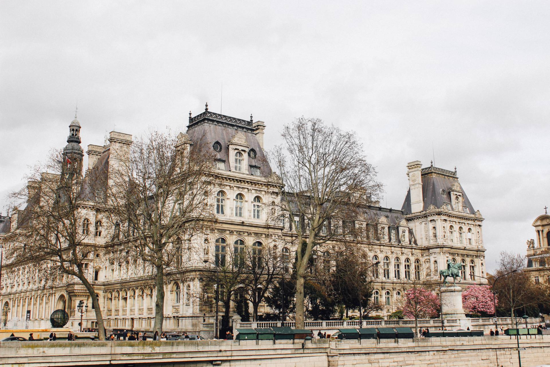 Walking along the streets of Paris, France