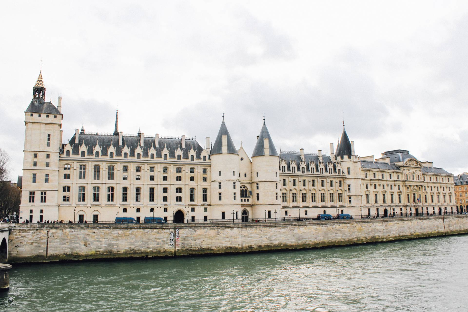 Buildings along the River Seine, Paris, France