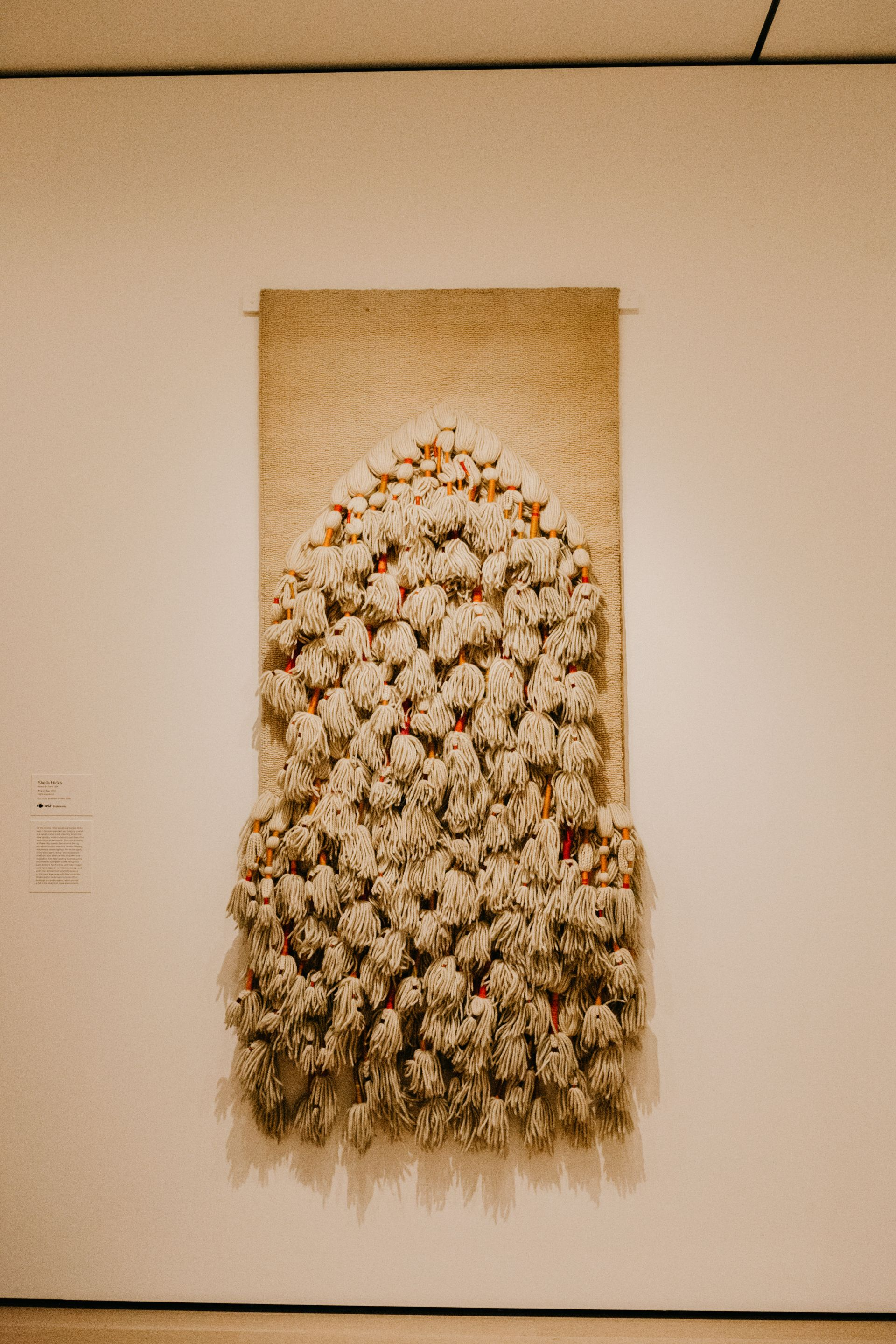 "Sheila Hicks - ""Prayer Rug"", Museum of Modern Art MOMA, NYC"