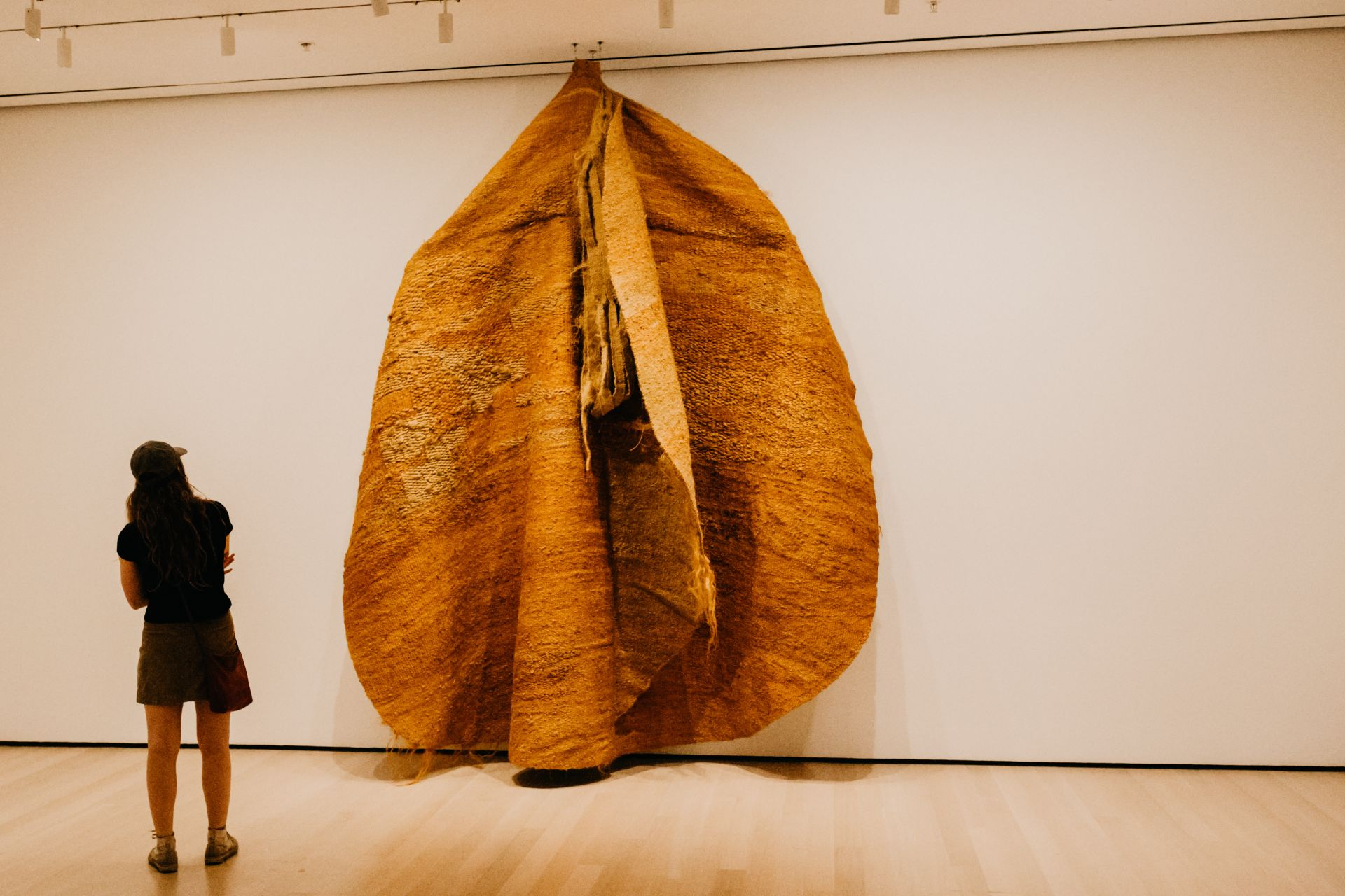 "Magdalena Abakanowicz - Yellow Abakan, Museum of Modern Art ""MOMA"", NYC"