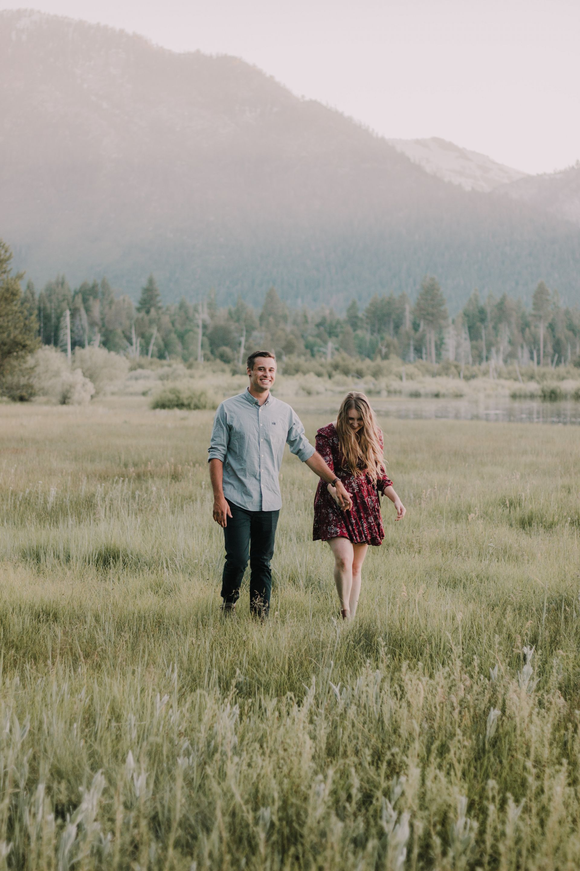 Lake Tahoe California Couple Session shot by Sarah Akiyama