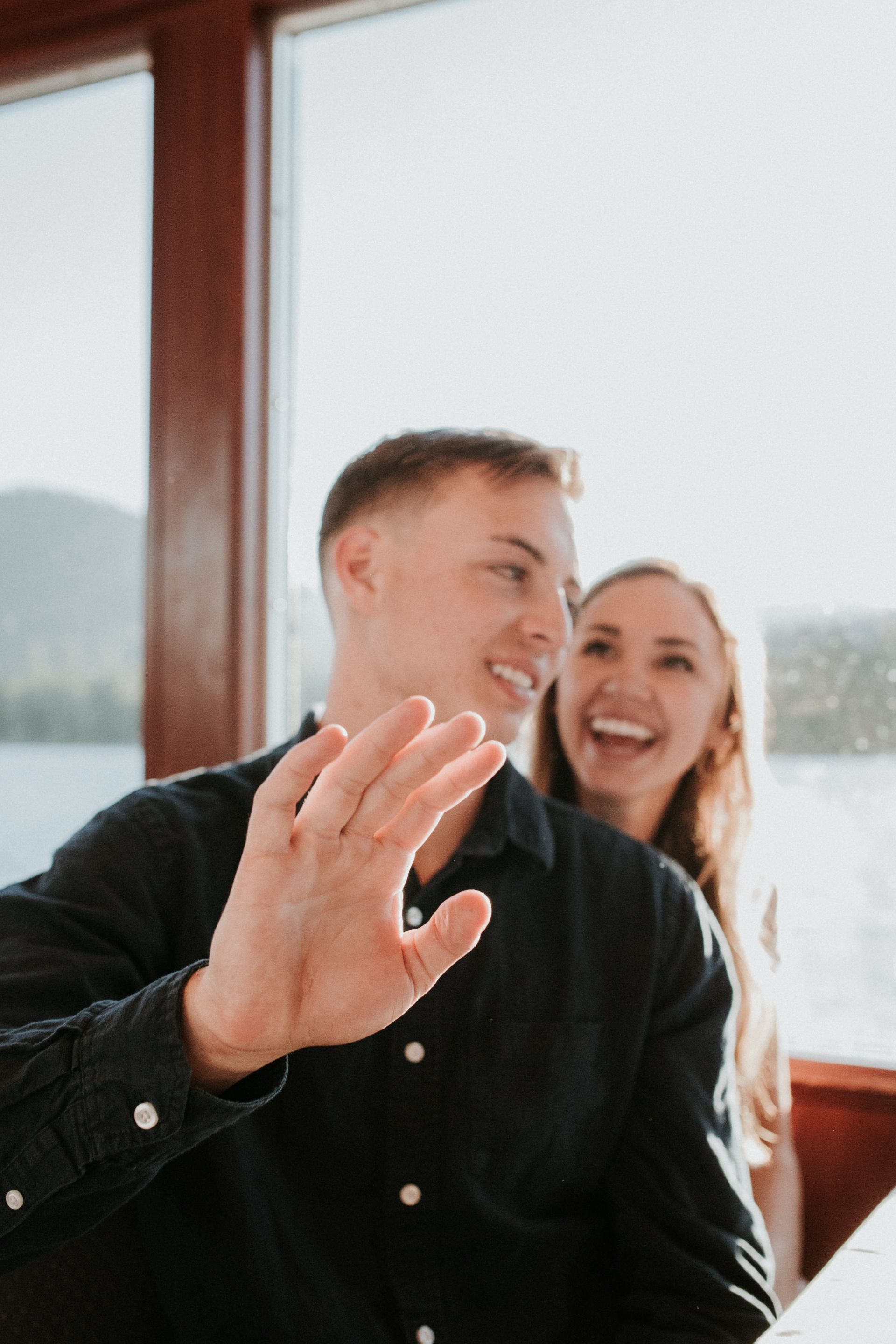 Gabe + Sarah's Lake Tahoe Rehearsal Dinner on the Tahoe Gal, shot by Sarah Akiyama