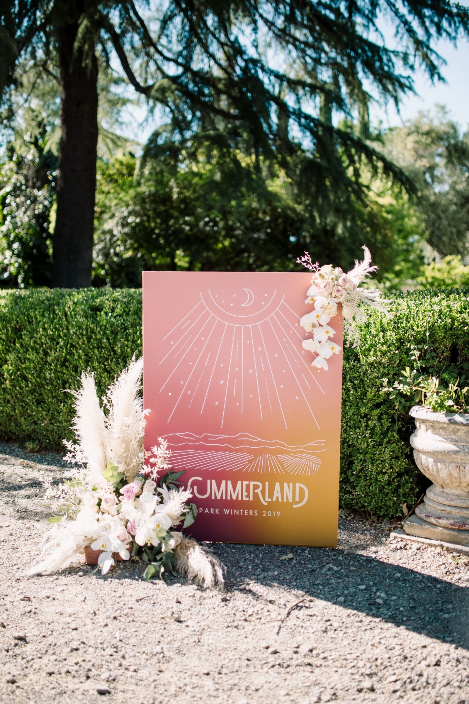Park Winters Summerland 2019 | Northern California Wedding Event Venue | Summer Pool Party Inspiration | Floral Design | Graphic Design | Junerie Co | SarahMichiko.com